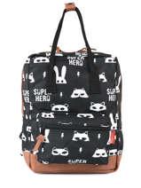Backpack Mini Kidzroom Gray black and white 30-8975