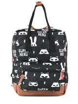 Sac à Dos Mini Kidzroom Gris black and white 30-8975