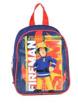 Sac à Dos Mini Sam le pompier Bleu brave 64360BRV