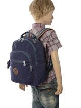 Backpack 1 Compartment Kipling Blue back to school 18674-vue-porte