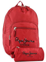 Backpack 2 Compartments Pepe jeans Red harlow 66824