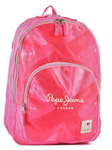 Backpack 2 Compartments Pepe jeans Pink kasandra 60624