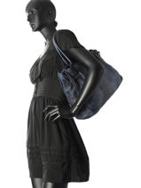 Shoulder Bag Dewashed Leather Milano Blue dewashed DE17115-vue-porte