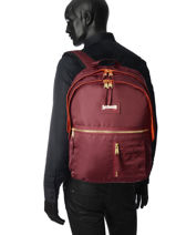 Backpack 2 Compartments Schott Red army 18-63704-vue-porte
