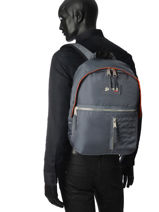 Backpack 1 Compartment Schott Gray army 18-62708-vue-porte