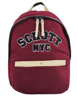 Backpack 1 Compartment Schott Red college 18-62724