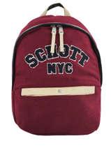 Sac à Dos 1 Compartiment Schott Rouge college 18-62724