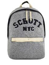 Backpack 1 Compartment Schott Beige college 18-62728