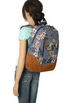 Backpack 1 Compartment Roxy Black back to school RJBP3740-vue-porte