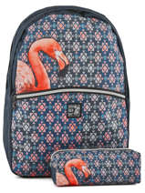 Backpack 2 Compartments With Free Pencil Case Laissez lucie faire Yellow spring LFE12090