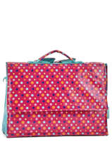 Satchel 1 Compartment A4 Les skewies Pink glossy HYBRIDE