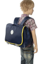Satchel Jp by jeune premier Blue jp bags PAL18-vue-porte