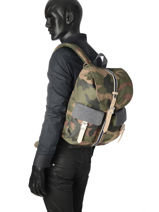 Backpack 1 Compartment Herschel Black offset 10233-O-vue-porte
