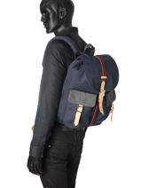Backpack 1 Compartment Herschel Black offset 10233-O-vue-porte
