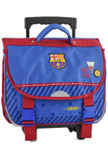 Wheeled Schoolbag Fc barcelone Blue we are 490-8799