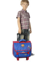 Wheeled Schoolbag Fc barcelone Blue we are 490-8799-vue-porte