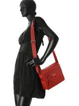 Longchamp Le pliage neo Besaces Rouge-vue-porte