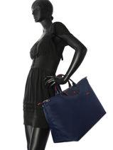 Longchamp Le pliage club Travel bag Blue-vue-porte