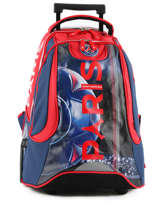 Wheeled Backpack 2 Compartments Paris st germain Blue ici c'est paris 173P204R