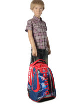 Wheeled Backpack 2 Compartments Paris st germain Blue ici c