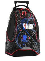 Wheeled Backpack 2 Compartments Nba Black basket 183N204R