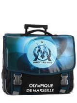 Wheeled Schoolbag 2 Compartments Olympique de marseille Yellow droit au but 183O203R