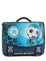 Cartable 2 Compartiments Olympique de marseille Bleu droit au but 183O203S