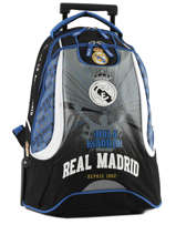Wheeled Backpack 2 Compartments Real madrid Black 1902 183R204R