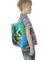 Backpack Mini Tortues ninja Multicolor attack AST0009-vue-porte