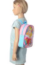 Sac à Dos Mini Disney Multicolore princess AST4091-vue-porte