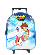 Sac à Dos à Roulettes 1 Compartiment Yokai watch Bleu attack YOKEI04