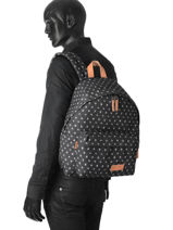 Backpack Aminimal Padded Eastpak Black aminimal AK620-vue-porte
