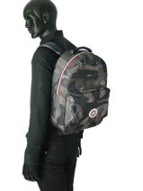 Backpack 1 Compartment Sweet pants Green urban LOOPS-vue-porte