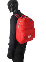 Backpack 1 Compartment Sweet pants Red urban LOOPS-vue-porte