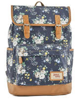 Backpack 1 Compartment Basilic pepper Blue liberty G653-FLO