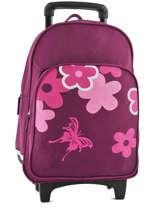 Wheeled Backpack Miniprix Violet school 15404