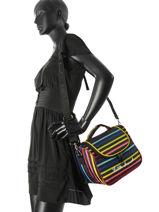 Beauty Case Little marcel Multicolor lm luggage 8891-vue-porte