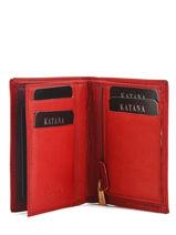 Wallet Leather Katana Red marina 753096-vue-porte