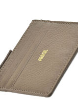 Card Holder Leather Miniprix Brown fancil LS2596-vue-porte