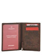 Wallet Leather Hexagona Brown instinct 667471-vue-porte