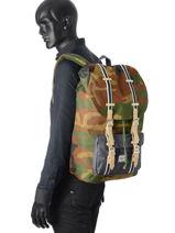 Backpack 1 Compartment Herschel Black offset 10014-O-vue-porte