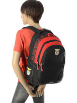 Backpack 2 Compartments Benfica Multicolor sl benfica 173E204I-vue-porte