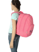 Backpack 2 Compartments Pepe jeans Pink harlow 66824-vue-porte