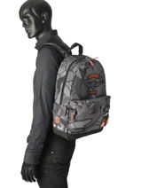 Backpack 1 Compartment Superdry Gray backpack men M91005JR-vue-porte