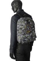 Backpack Napapijri Black geographic NOYIOB-vue-porte