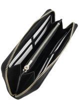 Wallet Leather Coach Black edie 58058-vue-porte