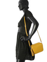 Crossbody Bag  Leather Milano Yellow CA160613-vue-porte