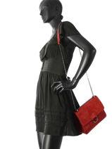 Shoulder Bag Velvet Milano Red velvet VE180602-vue-porte