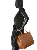Longchamp Le foulonné Handbag Brown-vue-porte