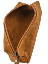 Case Leather Milano Brown velvet VE151101-vue-porte